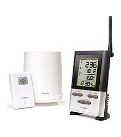 Oregon Scientific® Wireless Rain Gauge with Indoor/Outdoor Thermometer