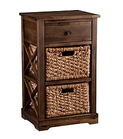 Southern Enterprises Fulton 2-Basket Storage Shelf