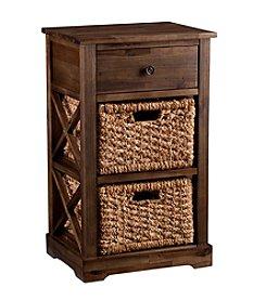 Southern Enterprises Fulton 2-Basket Storage Shelf