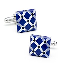Ox & Bull Men's Mother of Pearl Diamond Cufflinks