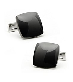 Ox & Bull Men's Stainless Steel Black PVD Cufflinks