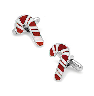 Cufflinks Inc. Men's Candy Cane Cufflinks