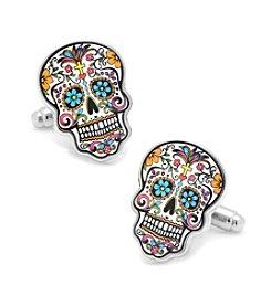 Cufflinks Inc. Men's Day of the Dead Skull Cufflinks