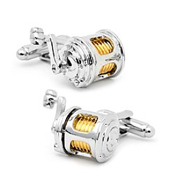 Cufflinks Inc. Men's Fishing Reel Cufflinks