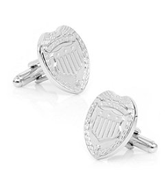 Cufflinks Inc. Men's Silver Police Badge Cufflinks