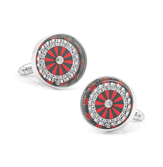 Cufflinks Inc. Men's Roulette Wheel Cufflinks