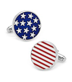 Cufflinks Inc. Men's Stars and Stripes American Flag Cufflinks