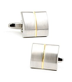 Ox & Bull Men's Divided Two-Tone Square Cufflinks