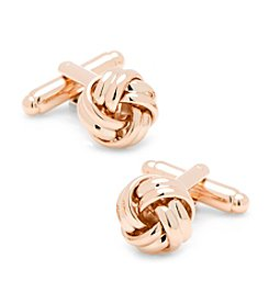 Ox & Bull Men's Rose Gold Knot Cufflinks