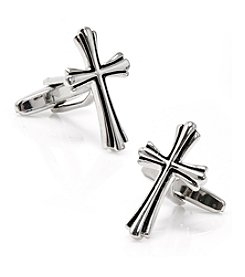 Cufflinks Inc. Men's Silver Cross Cufflinks