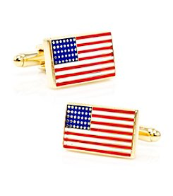 Cufflinks Inc. Men's Gold American Flag Cufflinks