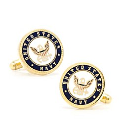 Cufflinks Inc. Men's Enamel US Navy Cufflinks