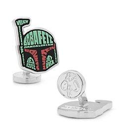 Star Wars™ Men's Boba Fett Typography Cufflinks