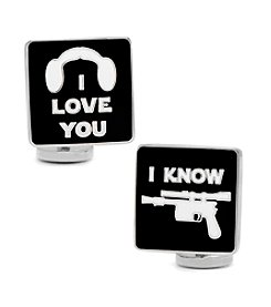 Star Wars® Men's I Love You I Know Icon Cufflinks