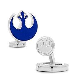 Star Wars™ Men's Blue Rebel Symbol Cufflinks