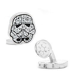 Star Wars™ Men's Storm Trooper Typography Cufflinks