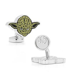 Star Wars® Men's Yoda Typography Cufflinks