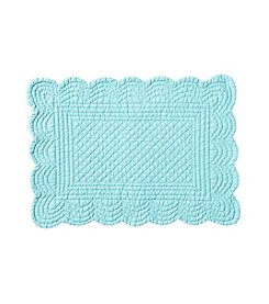 LivingQuarters Aqua Quilted Placemat