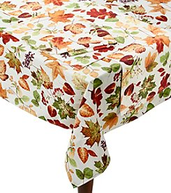 LivingQuarters Botanical Leaves Table Linens