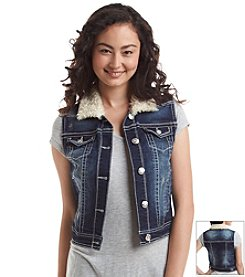 Wallflower®Sherpa Lined Denim Vest