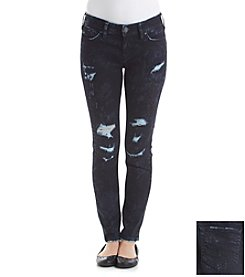 Silver Jeans Co. Tuesday Marble Destructed Skinny Jeans