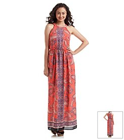 Sequin Hearts® Paisley Maxi Dress