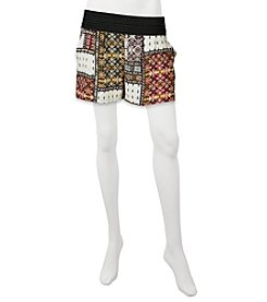 A. Byer Mixed Print Shorts
