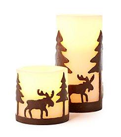 Ruff Hewn LED Moose Candle