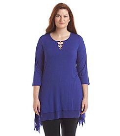 Cupio Plus Size Sharkbite Tunic