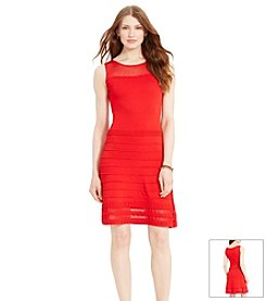 Lauren Ralph Lauren® Sheer-Yoke Knit Dress