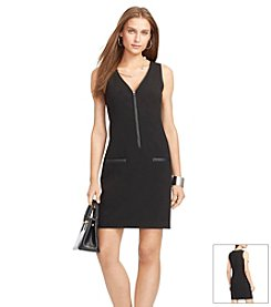 Lauren Ralph Lauren® V-Neck Gabardine Dress