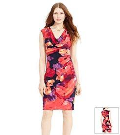 Lauren Ralph Lauren® Floral Cowl Neck Dress