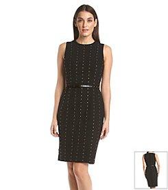 Calvin Klein Studded Belted Dress