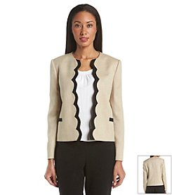 Tahari ASL® Scalloped Jacket