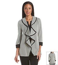 Tahari ASL® Cascade Front Sweater Jacket