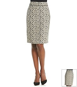 Kasper® Jacquard Skirt