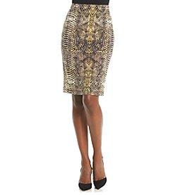 Kasper® Reptile Print Skirt