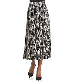 Kasper® Chevron A-Line Skirt