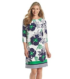 Nine West® Floral Crepe Dress