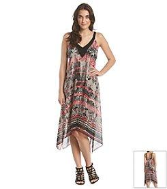 Adrianna Papell® Printed Handkerchief Dress