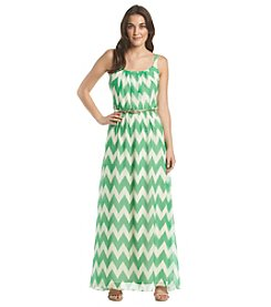 Jessica Howard® Chevron Maxi Dress