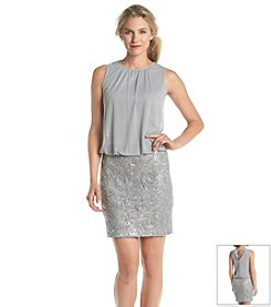 Perceptions Sequin Blouson Dress