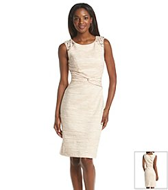 Jessica Howard® Jeweled Crinkle Sheath Dress