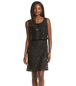 Ronni Nicole® Sequin Lace Popover Sheath Dress