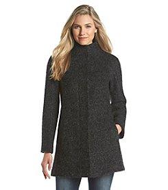 Anne Klein® Raglan Sleeve Stand Collar Coat