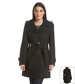 Calvin Klein Belted Notch Collar Coat