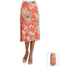 Bobeau Floral Flip Flop Skirt
