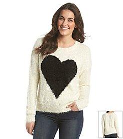 Chelsea & Theodore® Eyelash Heart Sweater