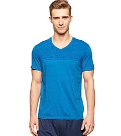 Calvin Klein Performance Men's Short Sleeve V-Neck Geo Print Tee