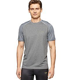 Calvin Klein Performance Men's Short Sleeve Mix Media Crewneck Tee